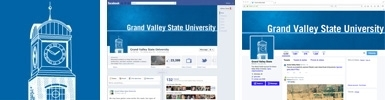 GVSU Blue Carillon Social Media Theme Images
